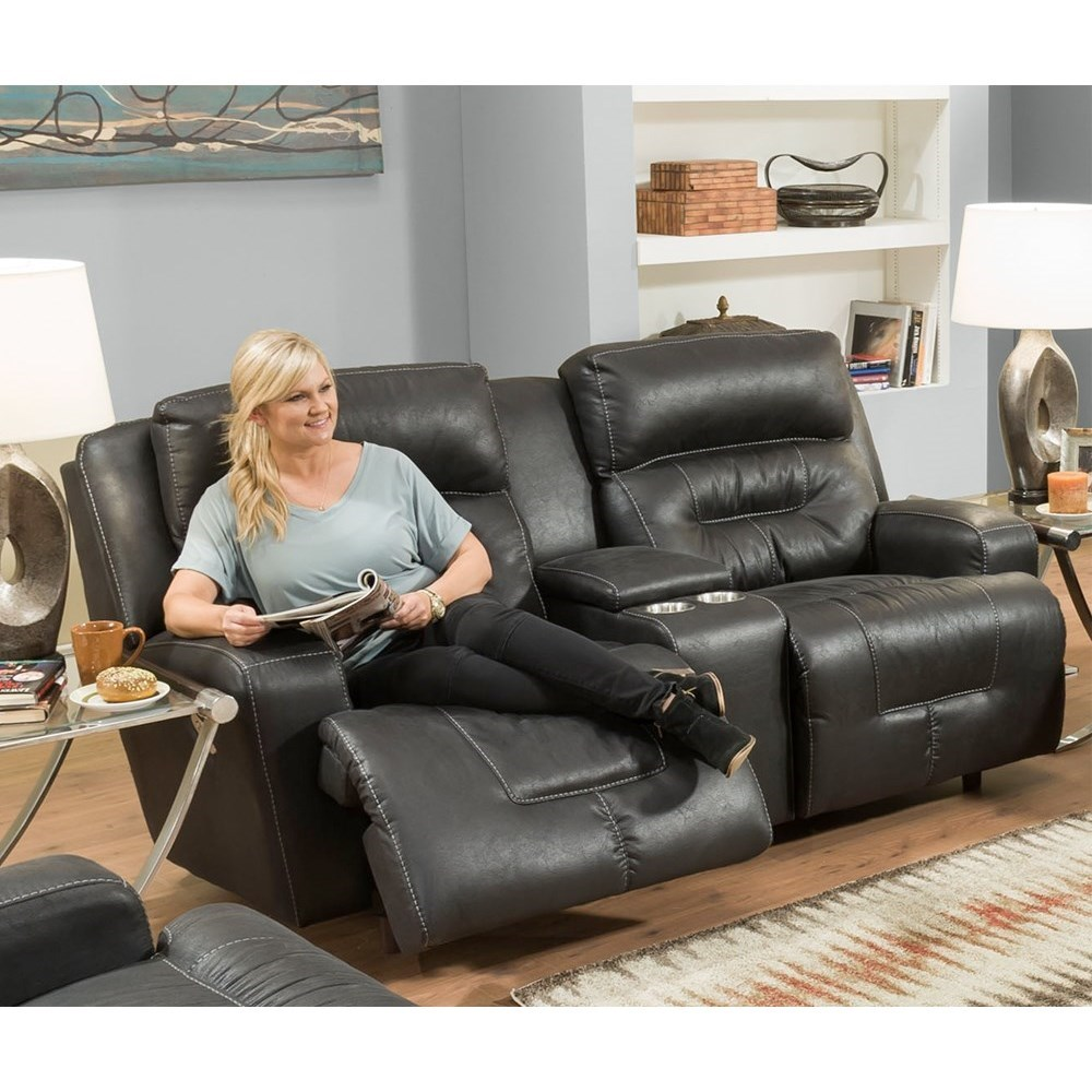 Armstrong Reclining Console Loveseat by Franklin at Turk Furniture