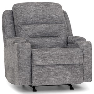 Power Rocker Recliner with Power Lumbar and Cupholders