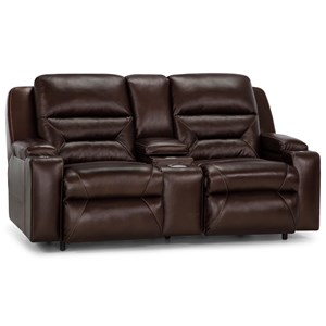 Power Reclining Console Loveseat with Power Lumbar and USB Ports