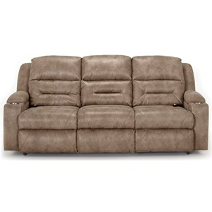 Power Reclining Sofa with Fold Down Table and USB Ports