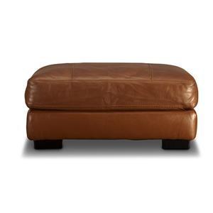 Blair Leather Match Ottoman