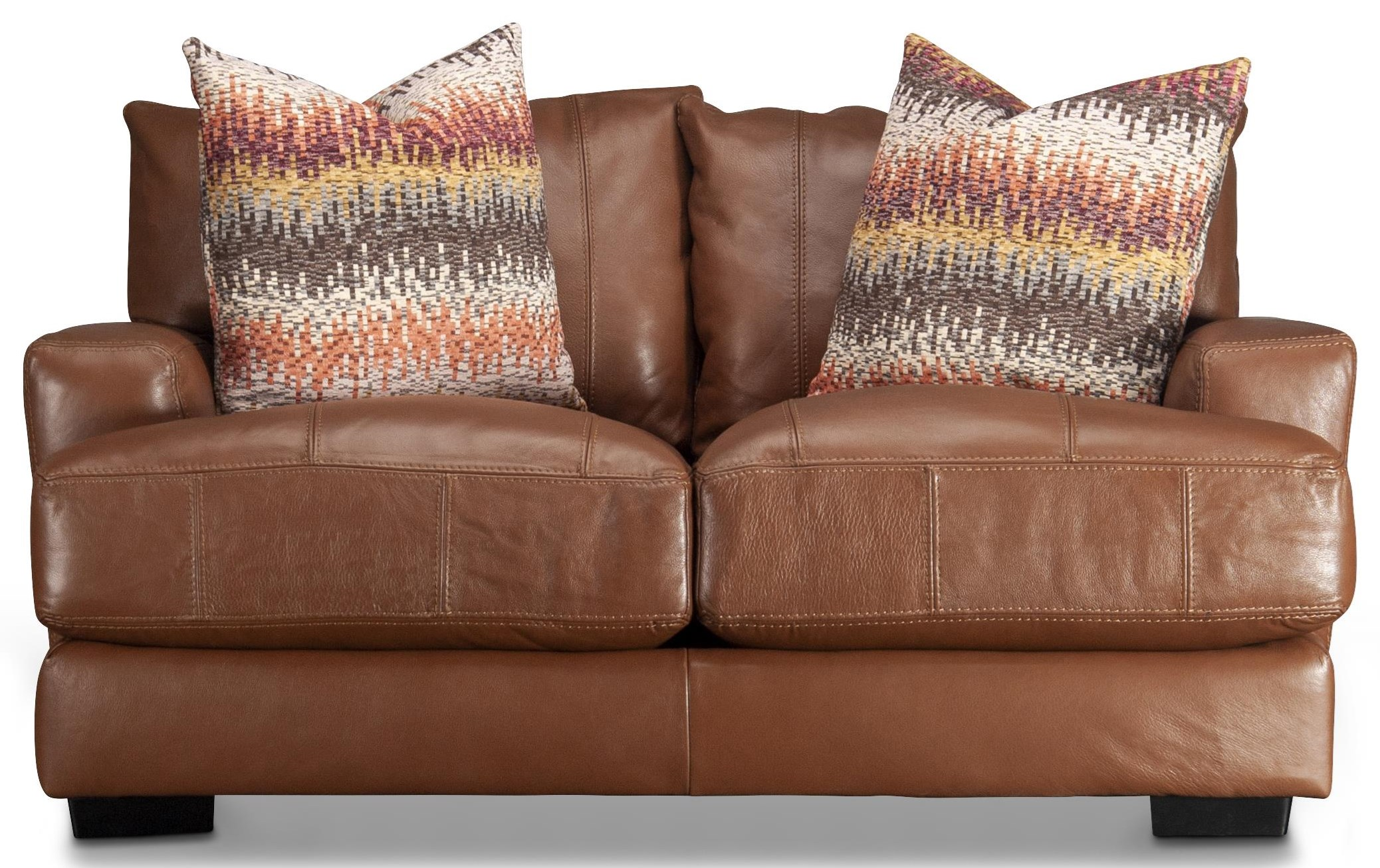 Blair Blair Leather Match Loveseat by Franklin at Morris Home