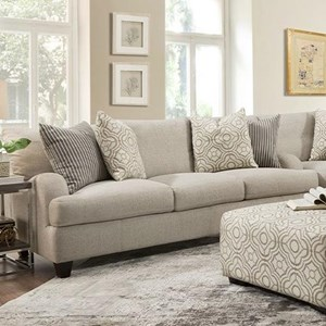 Transitional Sofa with English Arm