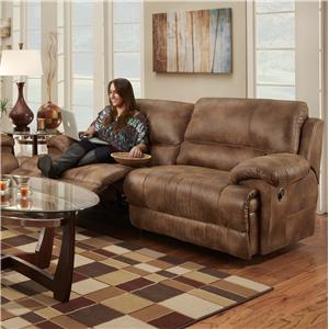 Franklin Caswell Double Reclining Two Seat Sofa