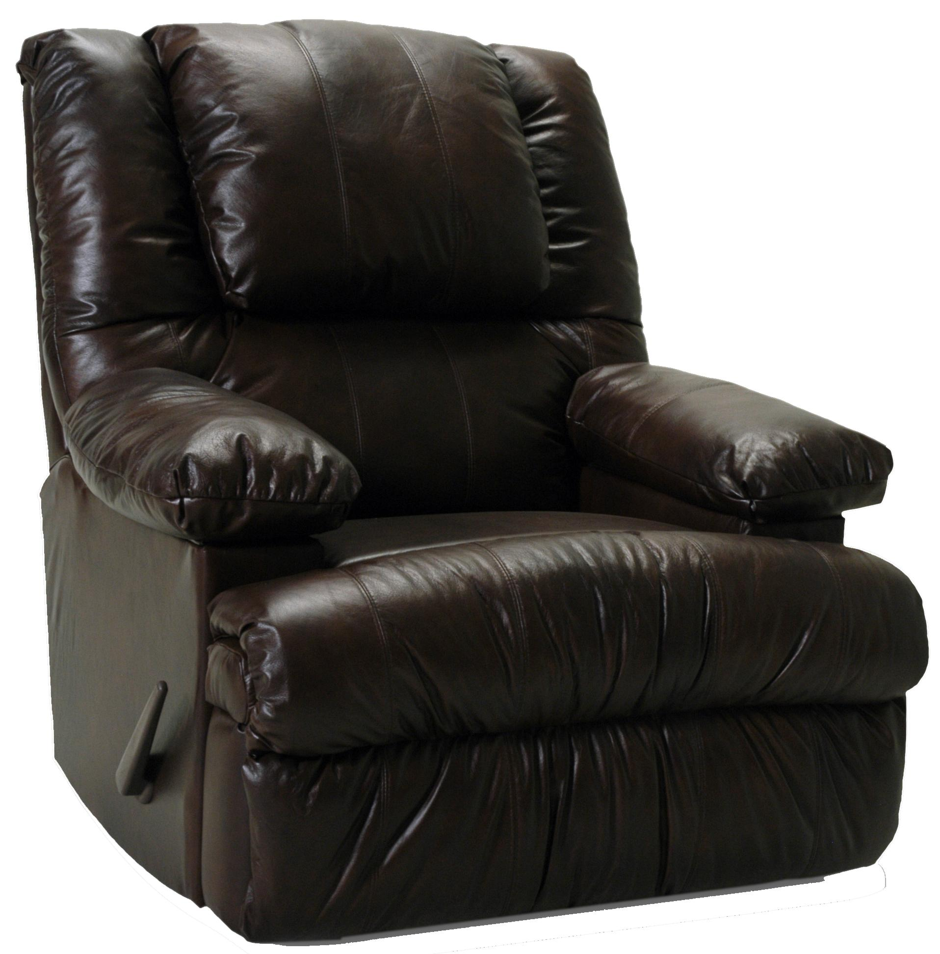 Clayton Rocker Recliner with Massage and Fridge by Franklin at Lagniappe Home Store