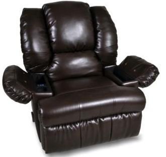 Rocker Recliners Recliner with Dual Massage, Cooler by Franklin at Wilcox Furniture