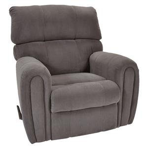 Casual Styled Rocker Recliner with Smooth Rounded Arms