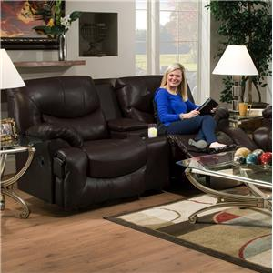 Reclining Console Loveseat with Cup Holders