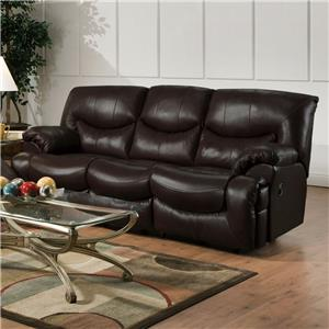 Reclining Sofa with Casual Style