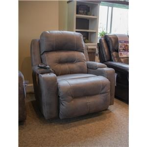 Triple Power Rocker Recliner with Lights and Cup Holders