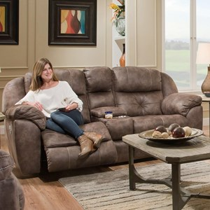 Power Recline Console Loveseat with Power Adj Headrest and USB Port