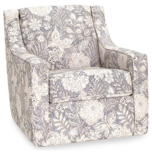 Upholstered Accent Swivel Chair