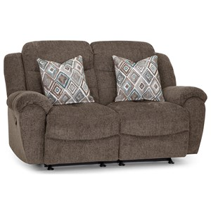Casual Power Rocking Reclining Loveseat