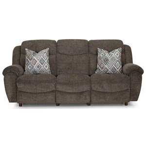 Casual Reclining Sofa with Pillow Top Arms