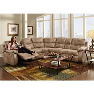 Franklin Eclipse Collection 499 Reclining Sectional Sofa