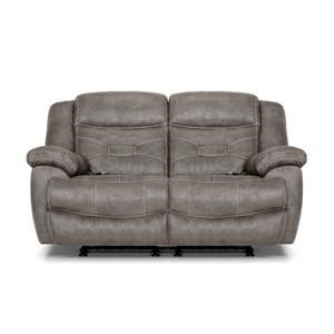 Grey Power Reclining Loveseat with Power HeadRest & Lumbar