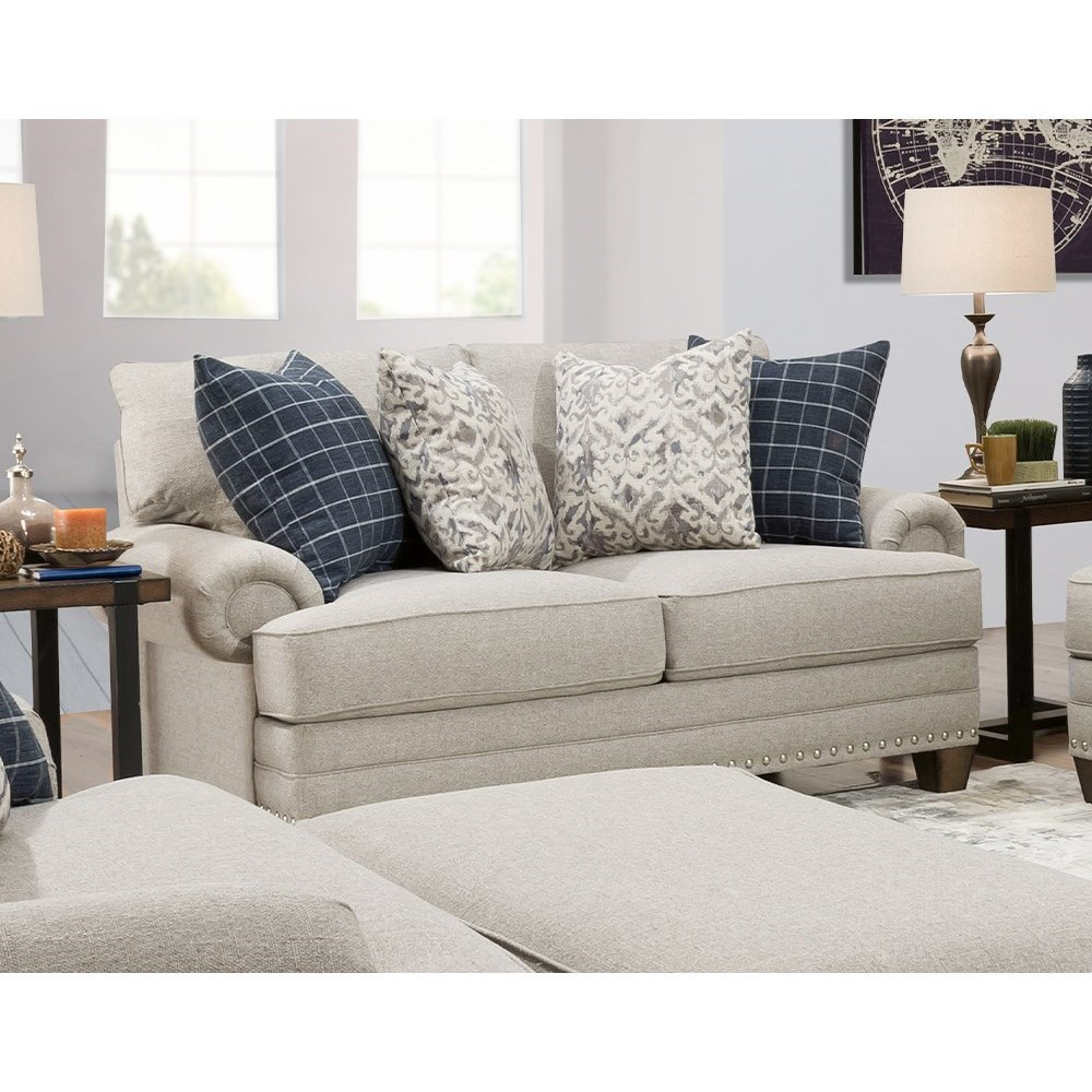 Fletcher Loveseat by Franklin at Furniture Fair - North Carolina