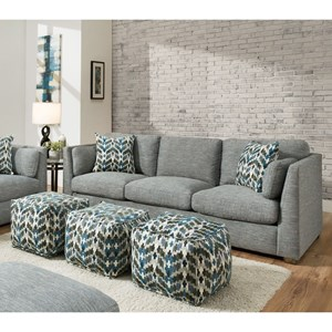 Sofa with High Track Arms
