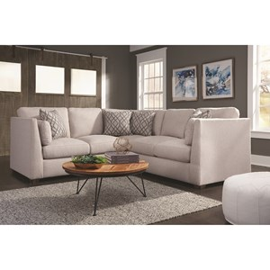 Contemporary Two Piece Sectional Sofa