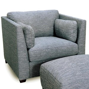 Contemporary Chair with High Track Arms
