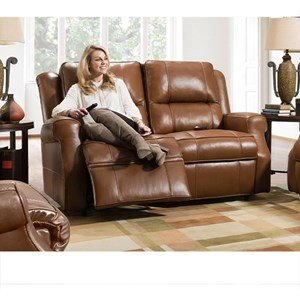 Power Reclining Loveseat with Power Headrest and Wand