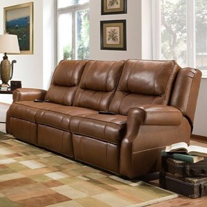 Power Reclining Sofa with Power Headrest and Wand