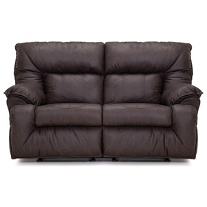 Rocking Reclining Loveseat with Pillow Arms