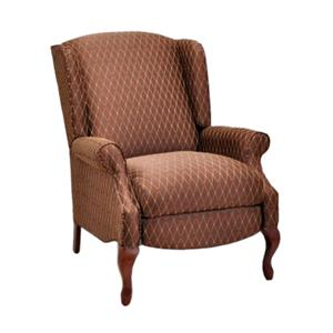 Sophie Traditional Styled Wing Recliner with Cabriole Legs