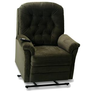 Lift and Power Recliner with Tufted Seat Back
