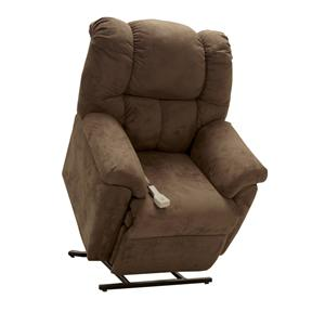 Lift and Power Recliner with Rolled Chair Back