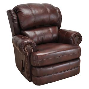 Bradford Recliner with Traditional Style and Nailheads