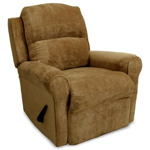 Serenity Rocker Recliner with Casual Style and Round Arms