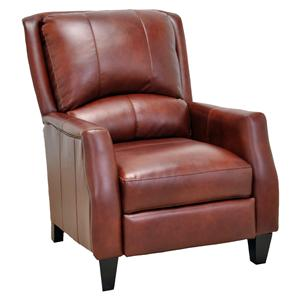 Cosmo Push Back Recliner with Wooden Legs in Contemporary Style