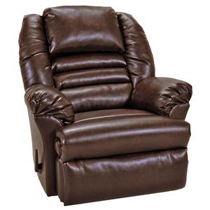 Casual Rocker Recliner with Headrest