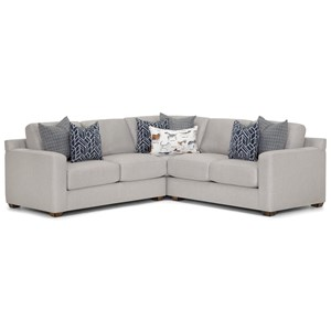 L-Shaped Sectional with Track Arms