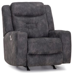 Casual Dual Power Rocker Recliner with USB Port and Cup Holder