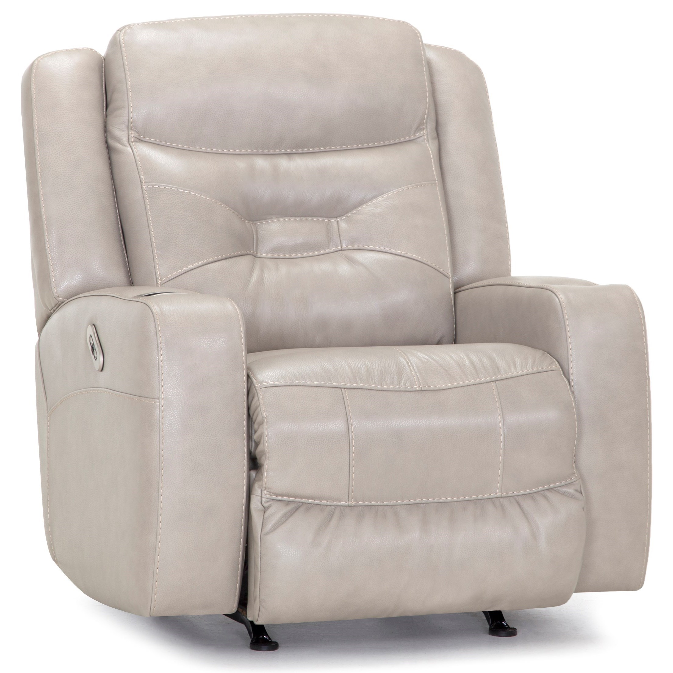 Quantum Dual Power Rocker Recliner with USB Port by Franklin at Catalog Outlet