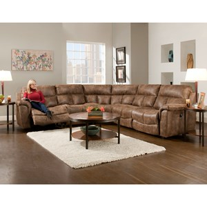 Sectional Sofa with 5 Seats (4 that Recline)