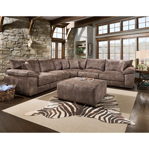 Casual Three Piece Sectional