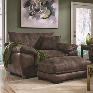 Upholstered Chair and a Half with Pillow Arms