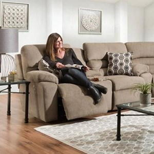 Power Reclining Console Loveseat with USB and Power Headrests