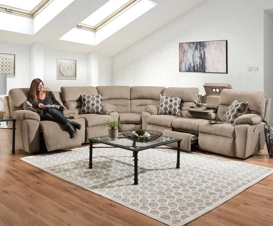 Tribute 6 Seat Power Reclining Sectional by Franklin at Catalog Outlet