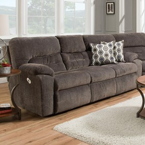 Power Reclining Sofa with Drop-Down Table, Lights, Drawer and USB