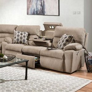 Triple Power Reclining Sofa with Drop-Down and USB Charger