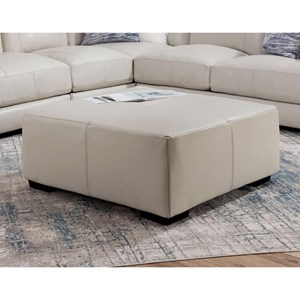 Square Ottoman with Tufting