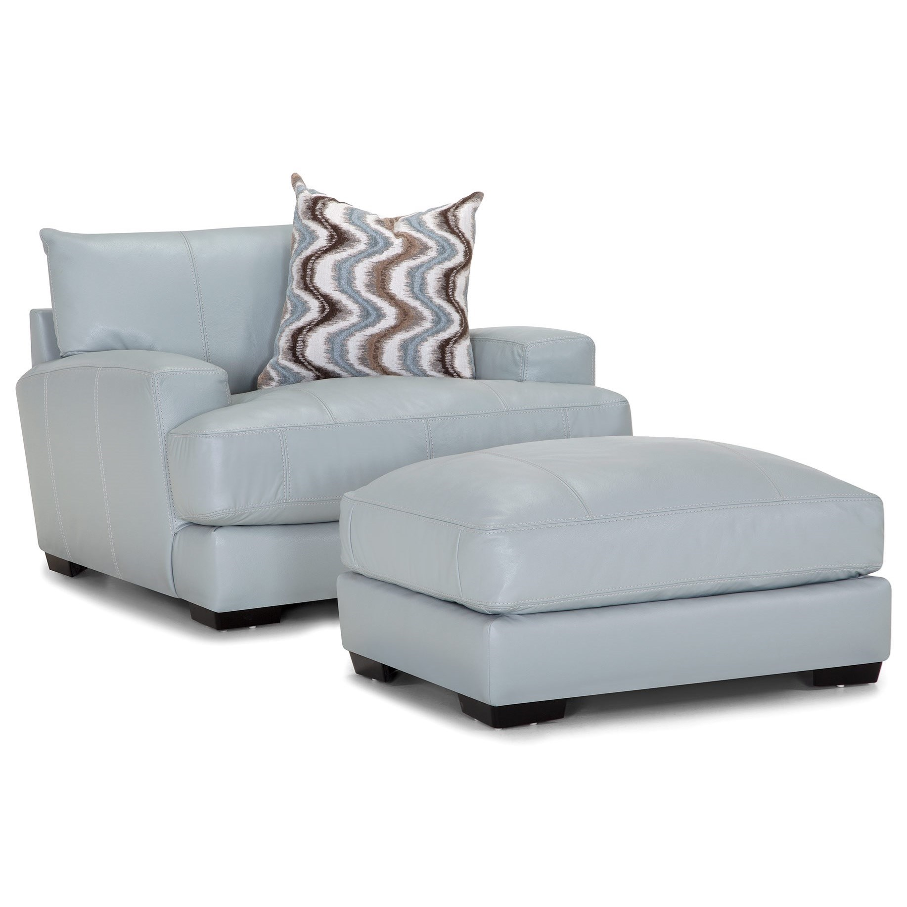 909 Chair and a Half with Ottoman by Franklin at Turk Furniture