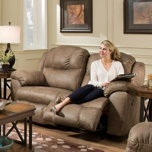 Power Rocker Reclining Loveseat with USB Charging Port