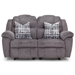 Rocking Reclining Loveseat with Pillows