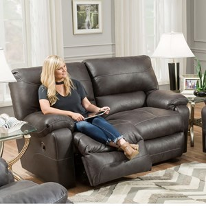 Power Reclining Loveseat with Integrated USB Port