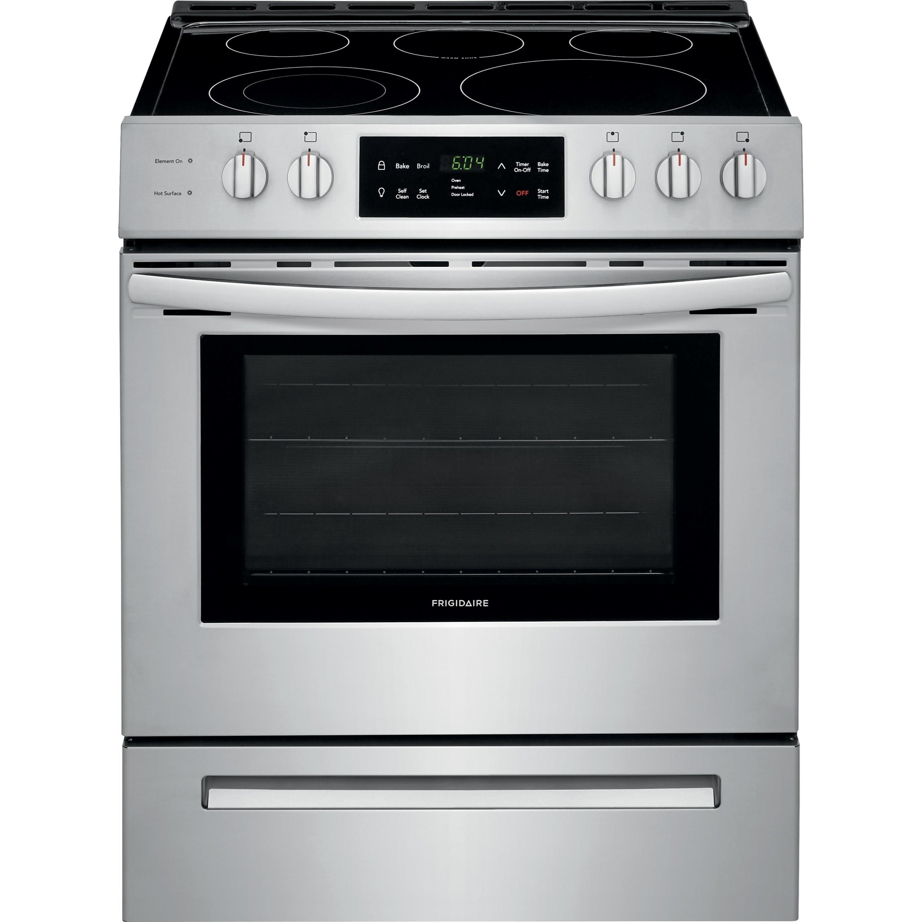 "Electric Range 30"" Front Control Freestanding Electric Rang by Frigidaire at VanDrie Home Furnishings"